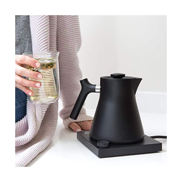 Fellow Corvo EKG Electric Kettle For Tea And Coffee, Matte Black, Variable Temperature Control, 1200 Watt Quick Heating… 2