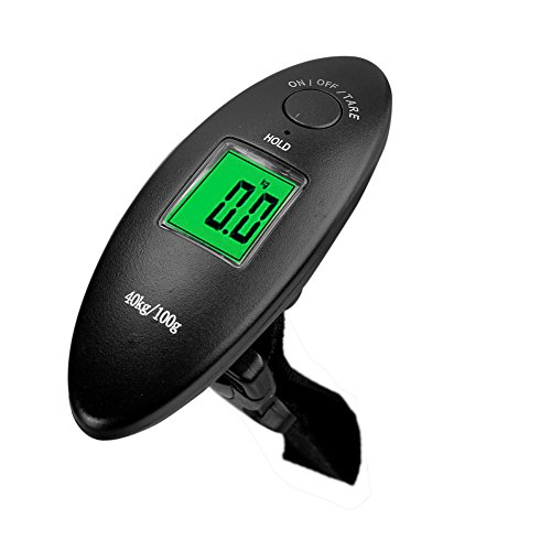 AMZVASO - Portable Electronic Luggage Scale LCD Display Electronic Travel Scale Hanging Balance Digital Luggage Scale by AMZVASO