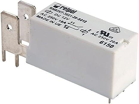 Relpol RM85V7-3021-20-S012 SPST-NO Miniatura FASTON Relé PCB 12 V 20 A