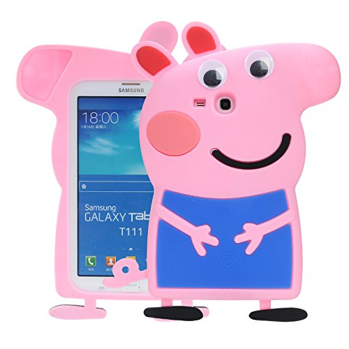 Samsung Galaxy Tab E lite 7.0 & Tab 3 Lite T110/T111 Case,Phenix-Color 3D Cute Soft Silicone [Drop Proof,Shock Proof,Anti Slip] Cartoon Gel Rubber Back Cover Case for Galaxy Tab E Lite 7.0 (#02) (Frozen Case Tablet 3)