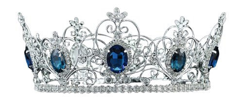 Silver Pageant Blue Sapphire Mens Or Womens Theatre Medieval King