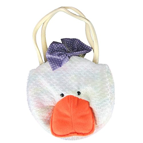Gitzy Abbey The 8in Plush Duck Little Girl Handbag Purse for Kids Easter and Springtime Decoration or Gift ()