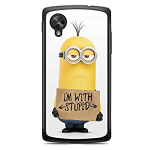 Minions Nexus 5 Transparent Edge Case - I am with Stupid