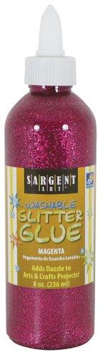 Sargent Art 22-1938 8-Ounce Magenta Washable Glitter Glue - 1938 Art
