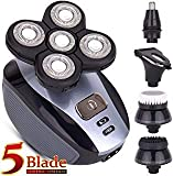 Men's 5-in-1 Electric Shaver & Grooming Kit: Five-Headed Beard, Hair Razor for a