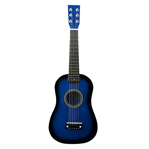 [해외]Kids Guitar 21 Inches Wooden Color Classic Children Acoustic Guitar Kids Mini Guitar Musical Instrumental Toy for Kids Children Boys Girls Beginners(Blue) / Kids Guitar 21 Inches Wooden Color Classic Children Acoustic Guitar Kids M...