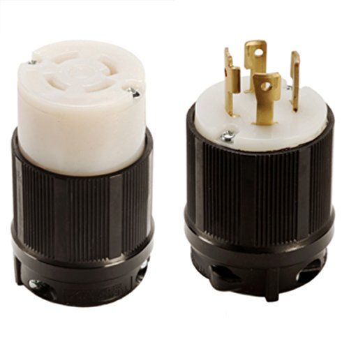 OCSParts L16-30 NEMA L16-30 Plug and Connector Set - Rated for 30A, 480V, 4-Wire, 3 Pole - cUL Listed (Pack of 2) by OCSParts