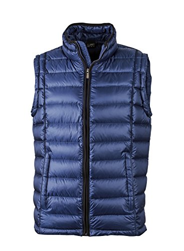 Men's Down Rialzato Ink Sportivo black Quilted Con Vest Gilet Collo Cpqw4