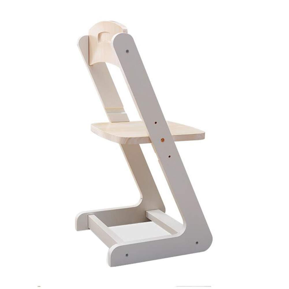 CJC テーブルチェア、子供用学習テーブル、家具無垢材パイン、コンピュータデスク、総本店、調整可能 高さ (色 : Chair 38*36*75cm)  Chair 38*36*75cm B07PFVN1PJ