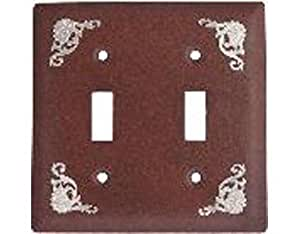 Western Filigree - Antique Switch Plate / 2 Toggle