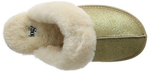 Lazy Dogz Gracie, Zapatillas de Estar por Casa para Mujer Dorado - dorado