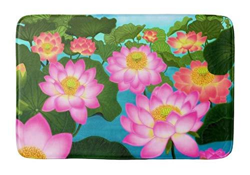 Lotus Garden Rug - POPSholder-Bath Mat Absorbent Super Cozy Bathroom Rug (18