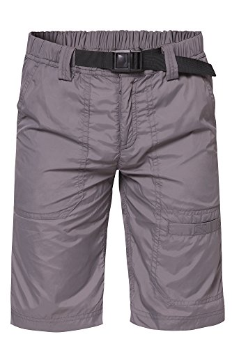 Trailside Supply Co. Big Boys' Water-Resistant Nylon Beachshorts with Mesh Lining, Smoked Pearl Grey, 16