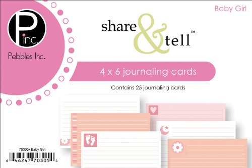Pebbles Inc. Share & Tell Journaling Cards 25/Package, Baby Girl