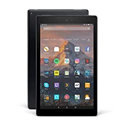 Certified Refurbished Fire HD 10 Tablet, 1080p Full HD Display, 32 GB, Black – with Special Offers (Previous Generation – 7th)