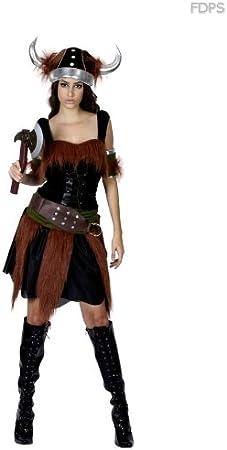 Desconocido Disfraz Traje Vestimenta de Mujer Vikinga Euro 38-44 ...