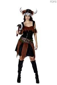 Disfraz Traje Vestimenta de Mujer Vikinga Euro 38-44