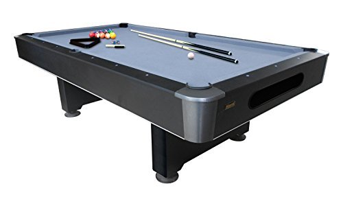 Mizerak Dakota 8' Slate Billiard Table – Features Reinforced Pedestal Legs and Wool Blend Cloth for Durability and Playability