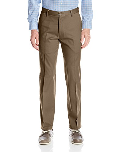 Dockers Men's Straight Fit Signature Khaki Pant D2, Dark Pebble (Stretch), 40W x (Signature Stretch Twill Pants)
