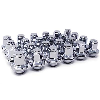 Mastiff 17240 Lug Nut Set, M14x1.5 Thread, Triple-Chrome Finish, Mag Seat - 1.81
