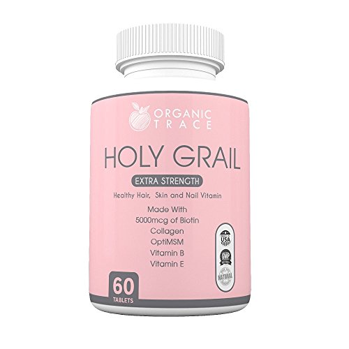Organic Trace Holy Grail Extra Strength for Hair, Skin and Nails, 60-Tablets