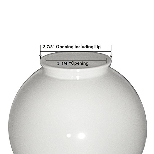 12 inch White Acrylic Plastic Light Round Pole Post Globe Lamp fixture