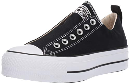 Converse Women's Chuck Taylor All Star Lift Slip Sneaker White/Black, 6.5 M -
