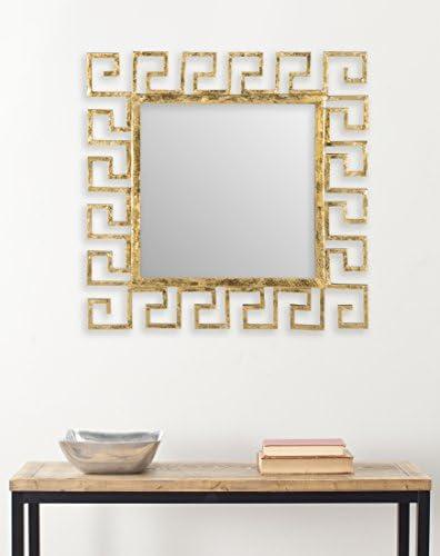 Safavieh Home Collection Calliope Greek Key Mirror, Antique Gold