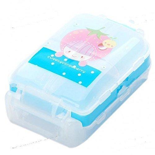 Mezon's Medicine Box Mini Multipurpose 8 Compartment Pill Tablet Storage Case   Multi Color