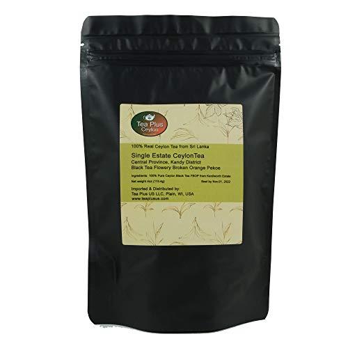 Ceylon Black Tea FBOP Single Estate Kenilworth Loose Leaf Tea from Sri Lanka Pouch 4oz (Kenilworth Estate Tea)