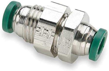 3/8 Tube Nickel Brass Bulkhead Union 10PK Industrial & Scientific ...