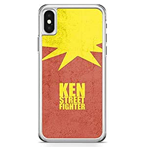 Loud Universe Ken Minimal Red iPhone X Case Ken Street Fighter iPhone X Cover with Transparent Edges