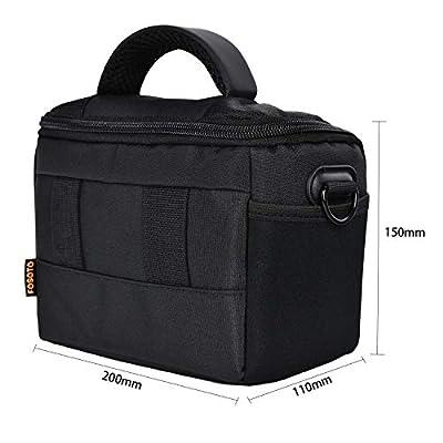 FOSOTO Waterproof Anti-shock Camera Case Bag Compatible for Canon Powershot SX540 SX530 SX60 SX420 HS M5,Nikon Coolpix L340 B500 L330 L840 L830 P550 P610,Panasonic LUMIX GX85,Sony a6000 Digital Camera