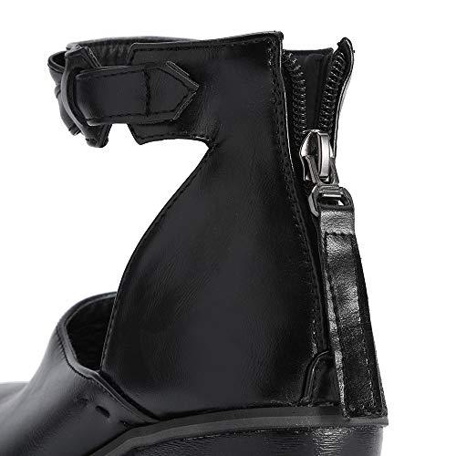 Einzelne Casual Damen Schuhe Schuhe Low Booties Boots Stiefel Sonnena Starke Vintage Einfarbig Flacher Schwarz Damenschuhe Heels Schuhe Mund Stiefel Ferse Frauen Herbst PdC8qBwC