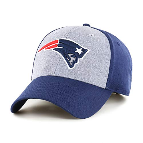 OTS NFL New England Patriots Male Essential All-Star Adjustable Hat, Light Navy, One Size