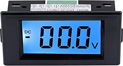 Yeeco Digital Voltmeter Voltage Meter AC Volt Testing Gauge LCD Display Voltage Measuing Volt Panel Meter