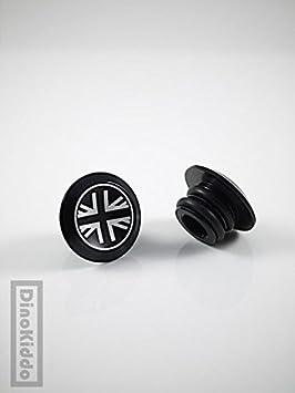 Negro Aluminio Unión Jack manillar End Plug para Brompton Bicicleta Plegable – Dino Kiddo