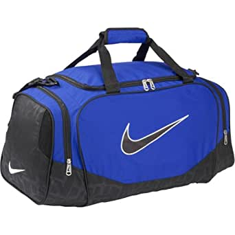 Nike Brasilia 5 Medium Duffel Gym Bag Varsity Royal/ Black Size Medium