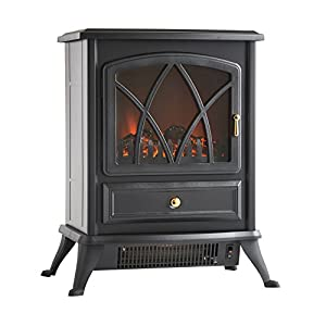 Vonhaus 1850w Portable Electric Stove Heater Fire Place Fireplace Log Burning Flame Effect