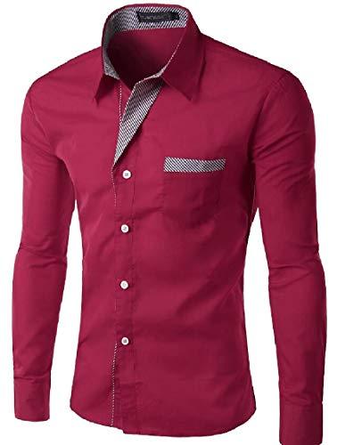 Maweisong Chemise Des Hommes D'affaires Robe De Luxe Slim Fit Manches Courtes Épinglette Casual Top 1