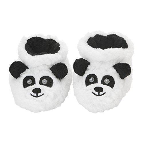 Picture of Snoozies Baby Plush Sherpa Animal Booties Panda Medium (3-6 Months)