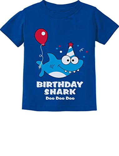 (Tstars - Birthday Shark Doo doo Song Funny Gift Toddler Kids T-Shirt 2T)