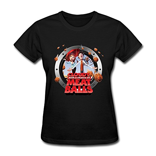 Roast Suckling Pig (Women's Tee-Classic Cloudy With A Chance Of Meatballs Film Black SizeS)