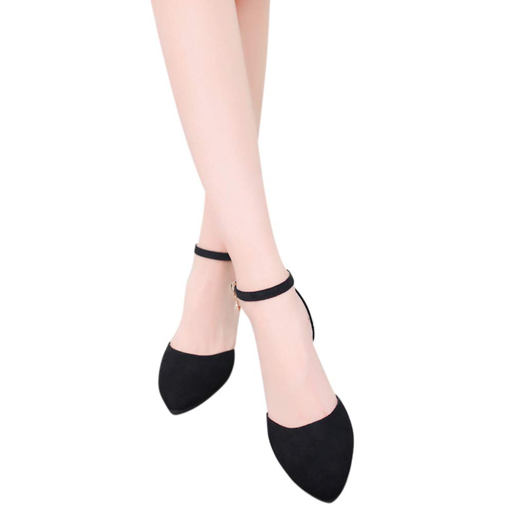 Womens Sandals Casual Pointed Toe Med Heels Square Heels Shoes Sandals Green