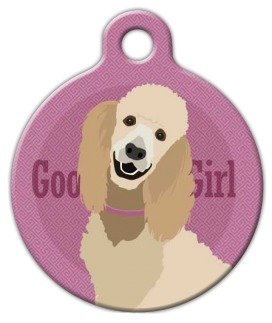 Good Girl - Standard Poodle - Custom Pet ID Tag for Dogs and Cats - Dog Tag Art - LARGE SIZE ()