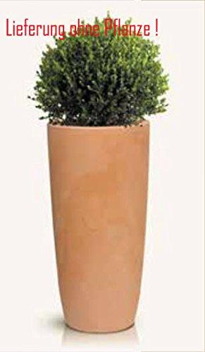 Blumenübertopf Kili aus Kunststoff in Terakotta Optik,sonnen-und regenbeständig für Innen und Außen,Farbe Terakotta, Ø 40cm Höhe 80cm
