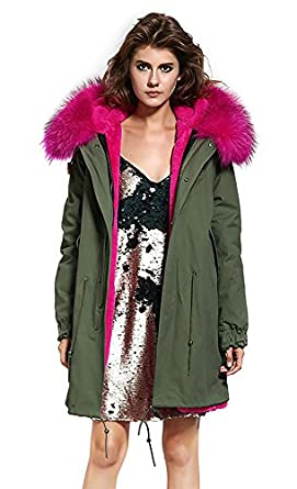 Amazon Com S Romza Women Hooded Parka Faux Fur Winter