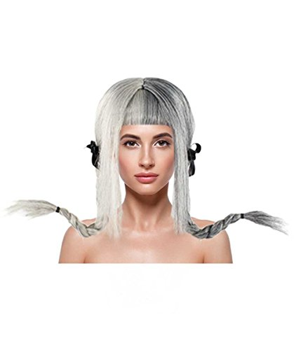 American Singer Ponytail Wig, Grey Adult HW-1100 ()