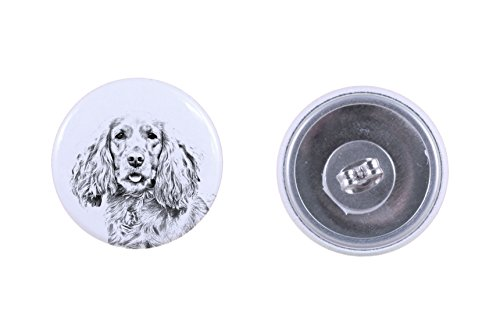 - English Cocker Spaniel, earrings with a dog