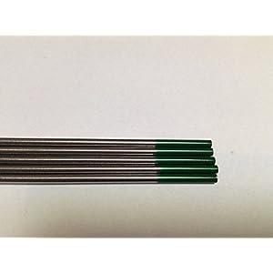 5 PCS of 1/16″ 7″,Green WP,Pure Tungsten Welding & TIG Electrode (ETA:7-12 WORK DAYS)